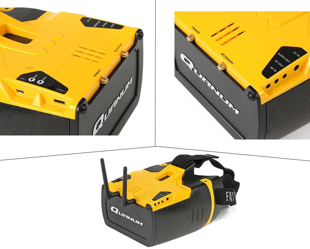 Fatshark Quanum Genesis 5.5 inch 1280 x 720 HD FPV Goggles with Integrated 5.8GHz 32CH Diversity Receiver