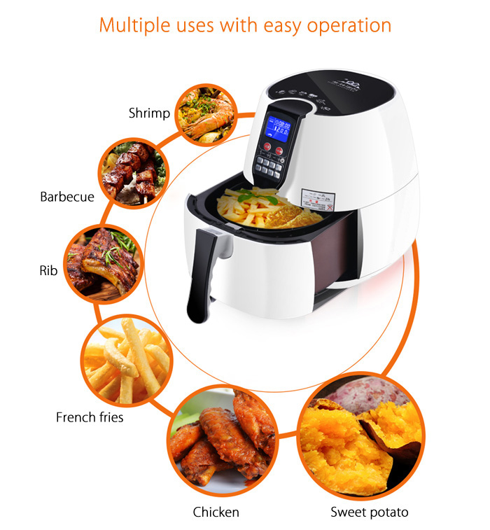 BAIJIAHAOSHI LYA2 2.5L Electric Air Fryer for Frying Roasting Baking