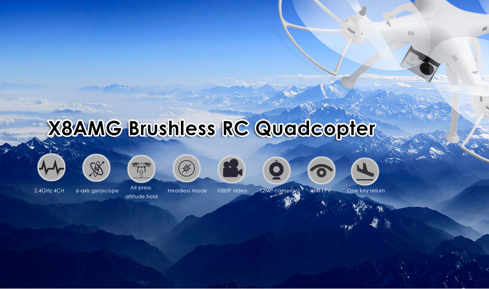 X8AMG Brushless RC Quadcopter