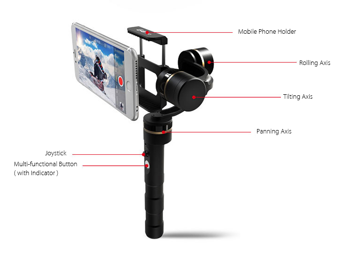 FY FEIYUTECH G4 Pro 3-axis Handheld Gimbal for iPhone Series