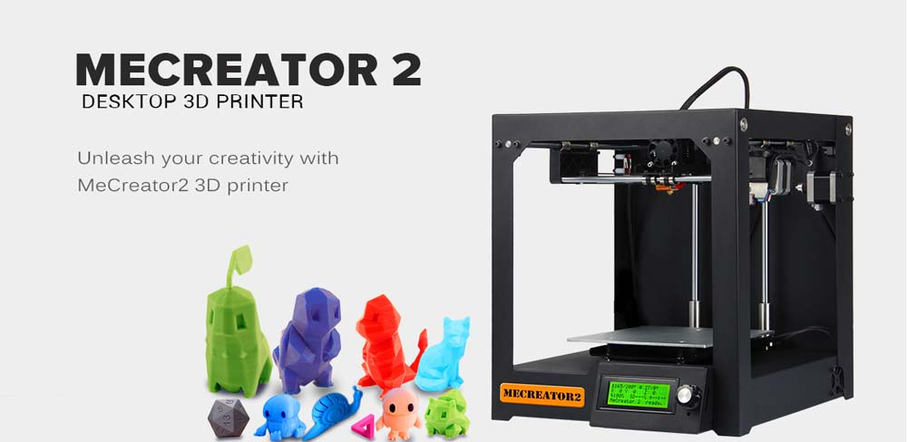 Geeetech MeCreator 2 3D Desktop Printer 110V LCD Screen Display with SD Card Off-line Printing Function