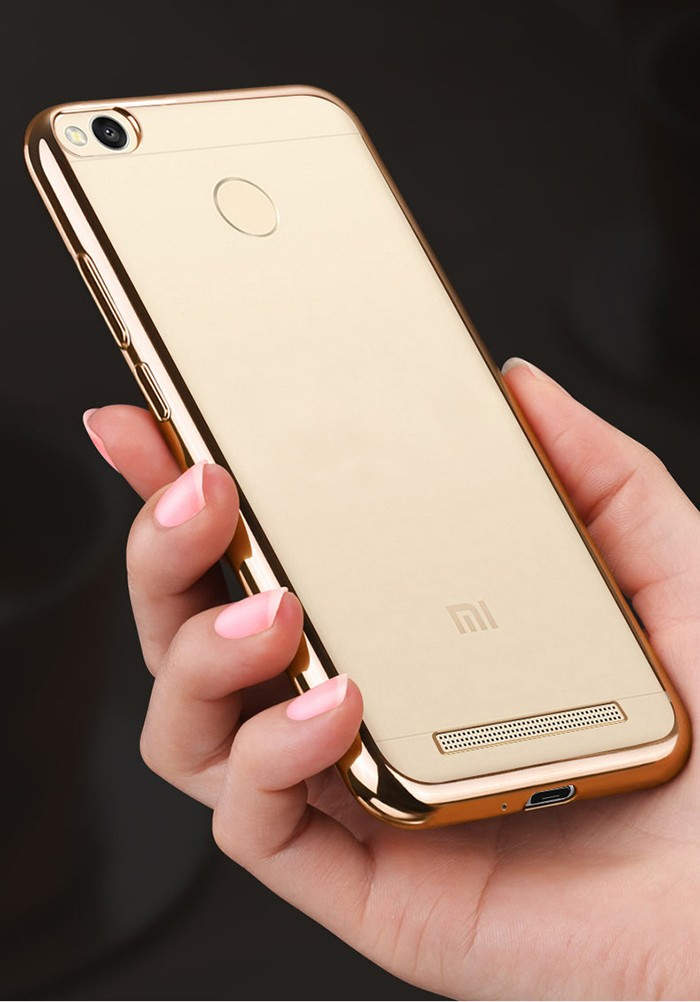 Luanke TPU Soft Protective Case for Xiaomi Redmi 3S / 3 Pro Ultrathin Transparent Style Shell with Electroplated Edge
