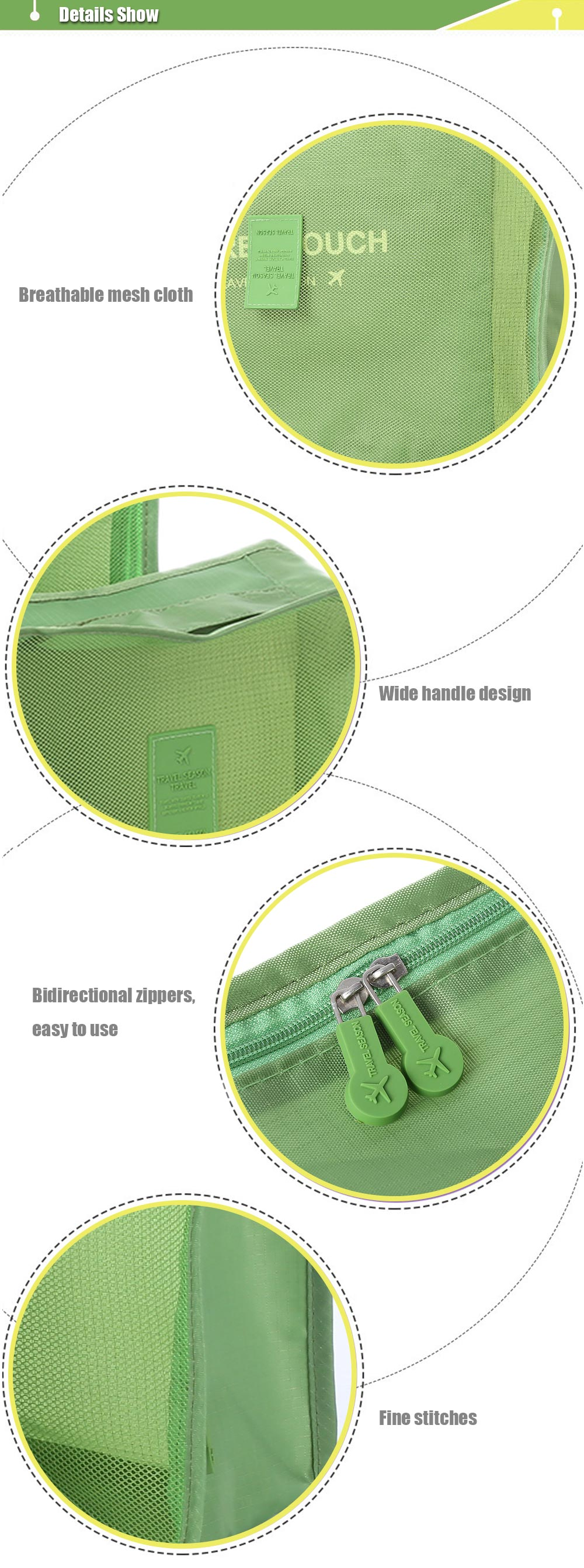 Dixiu 6 in 1 Large Capacity Luggage Bags Journey Organizer for Outdoor Traveling Home Use