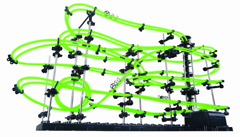 SPACERAIL Level 3 Luminous Marble Roller Coaster DIY Model with 16m Track Line