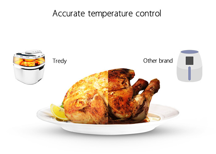 Tredy HD18 10L Intelligent Remote Control Electric Air Fryer for Frying Roasting
