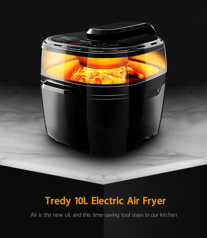Tredy HD15 10L Intelligent Electric Air Fryer for Frying Roasting Baking