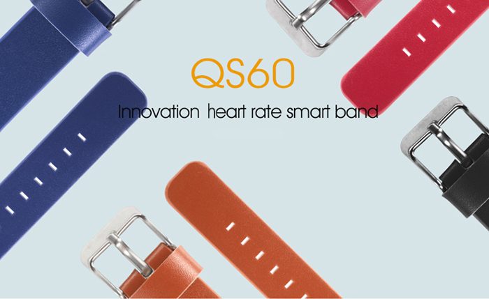 QS60 Heart Rate Measure Smart Wristband with Breath Training Pedometer