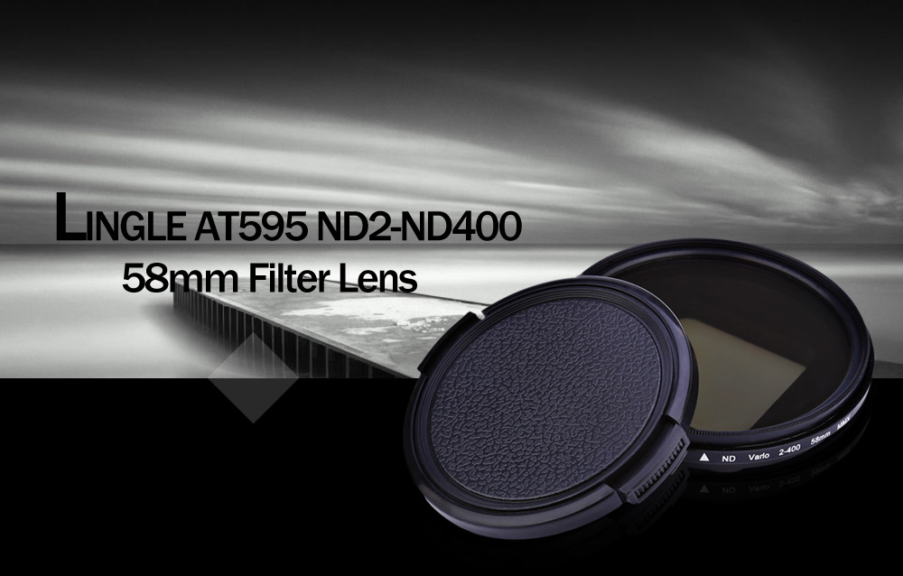 LINGLE AT595 ND2 - ND400 58mm Filter Lens for GoPro Hero 4 / 3+ Action Camera