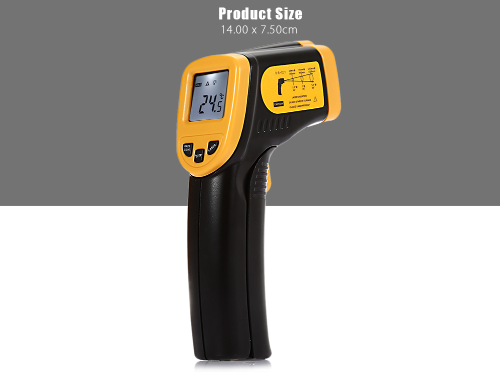 ELECALL ELE - 365A+ Handhold LCD Display Digital IR Infrared Thermometer