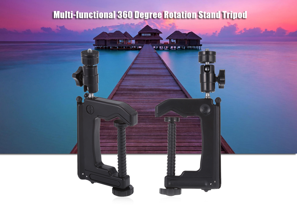 Universal Powerful 360 Degree Rotatable Stand Holder Tripod for Action Cameras