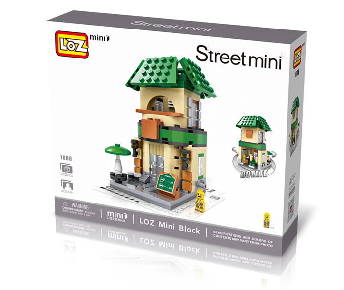 LOZ ABS 312pcs Mini Street Building Block DIY Model