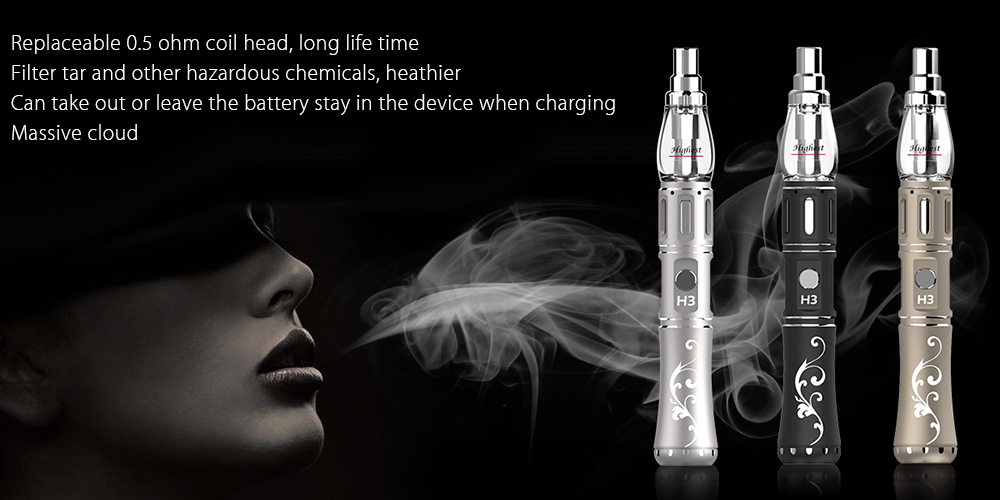 Original Beyang H Legend 3 Portable Electronic Hookah E-liquid Vaporizer with 0.5 ohm Coil Head / Constant Output Voltage / Supporting Single 18650 Battery