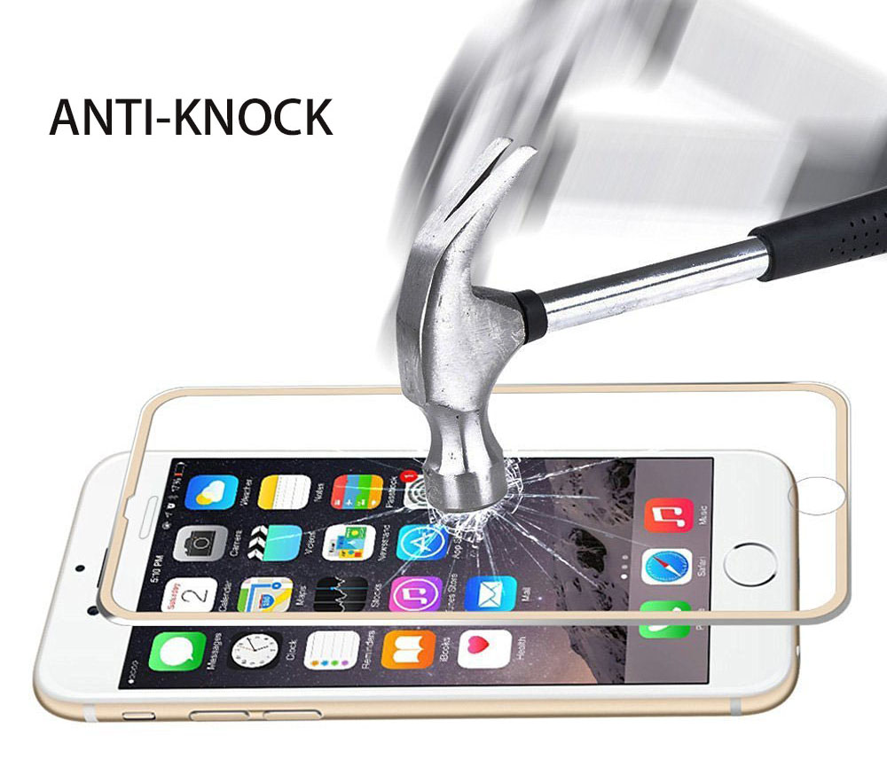 Hat Prince Aluminium Alloy Edge Tempered Glass Screen Film for iPhone 7 Plus 0.2mm 9H 3D Ultra-thin Explosion-proof Protector