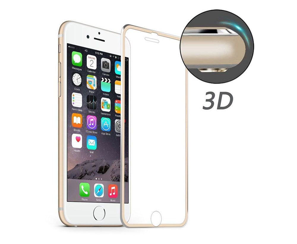 Hat - Prince Aluminium Alloy Edge Tempered Glass Screen Film for iPhone 7 9H 3D Ultra-thin Explosion-proof Protector