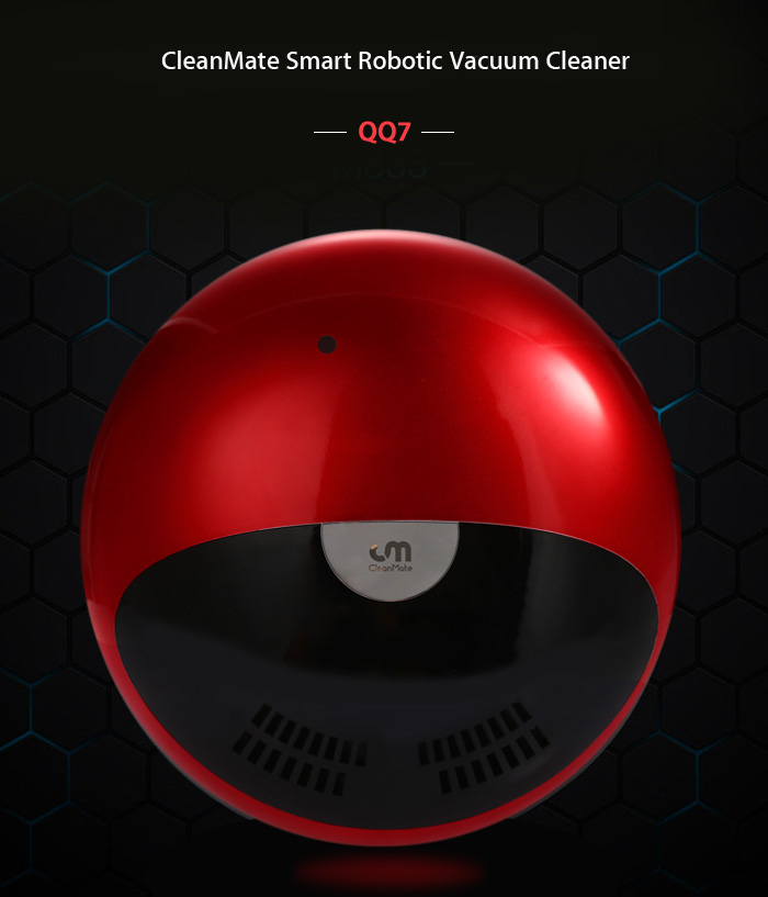 CleanMate QQ7 Smart Robotic Vacuum Cleaner Cordless Sweeping Cleaning Machine
