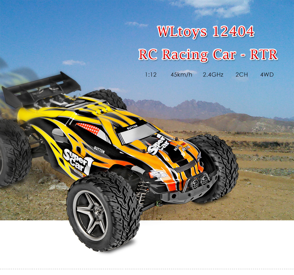 WLtoys 12404 1:12 4WD RC Racing Car 45km/h 2.4GHz 2CH Splashproof Dustproof with 550 Strong Magnetic Motor