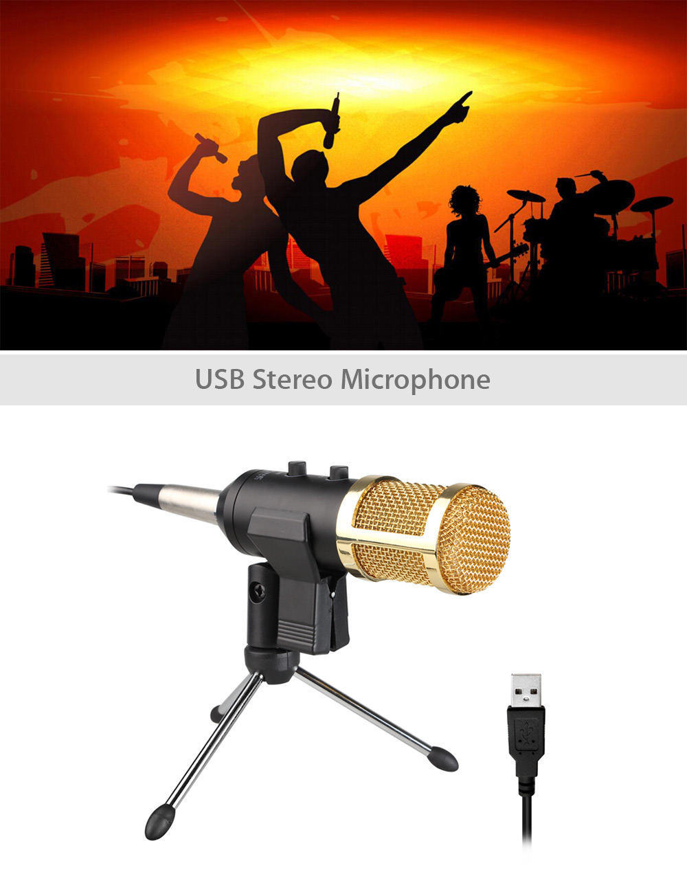 FIFINE K056 USB Stereo Microphone for Laptop / Desktop with USB Port