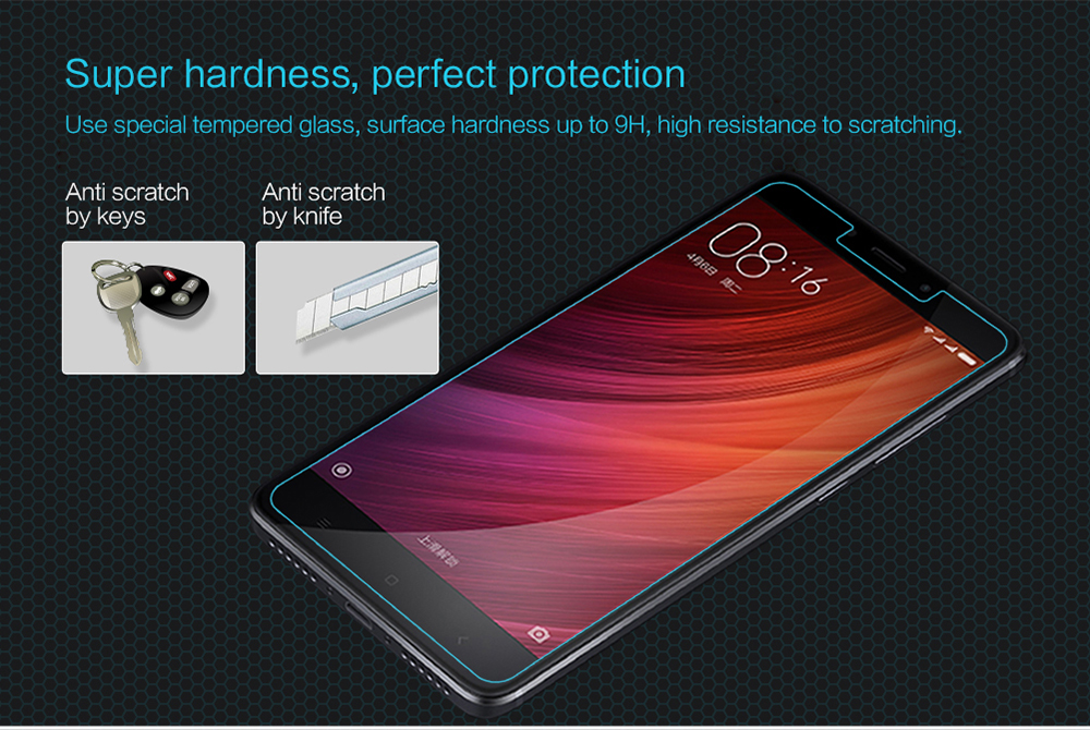 Nillkin Tempered Glass Screen Protective Film for Xiaomi Redmi Note 4 Ultra-thin 0.2mm 2.5D 9H Anti UV Explosion-proof Protector