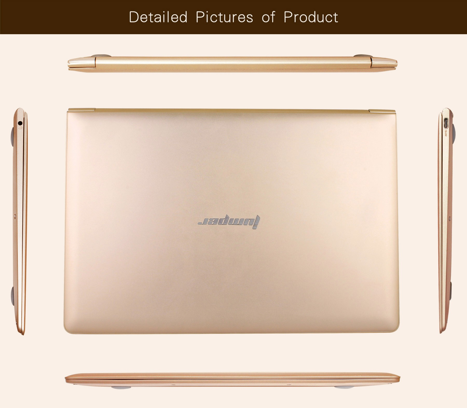 Jumper EZbook Air 8350 11.6 inch Notebook Windows 10 OS Intel Atom X5-Z8350 Quad Core 1.44GHz FHD Screen 4GB RAM 128GB EMMC Bluetooth 4.0 Type-C Camera
