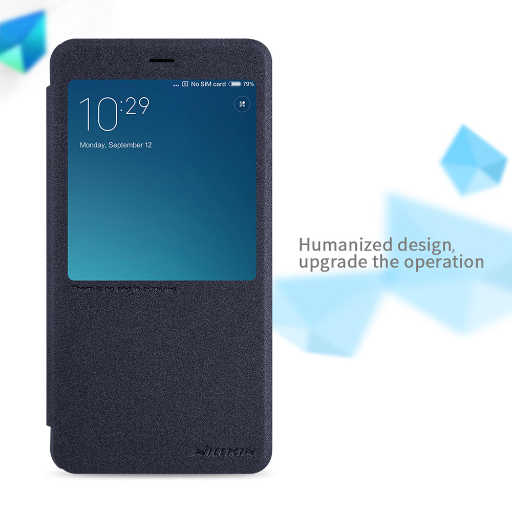 Nillkin Full Body Cover Frosted Protective Case for Xiaomi Redmi Note 4 Auto Wake-up Sleep Function PU Leather Mobile Shell