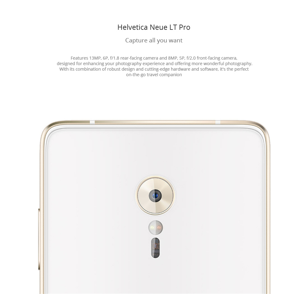 Lenovo ZUK Z2 Pro 5.2 inch FHD Screen 4G Smartphone Android 6.0 Snapdragon 820 64bit Quad Core 2.15GHz 6GB RAM 128GB ROM 13MP Rear Camera Type-C