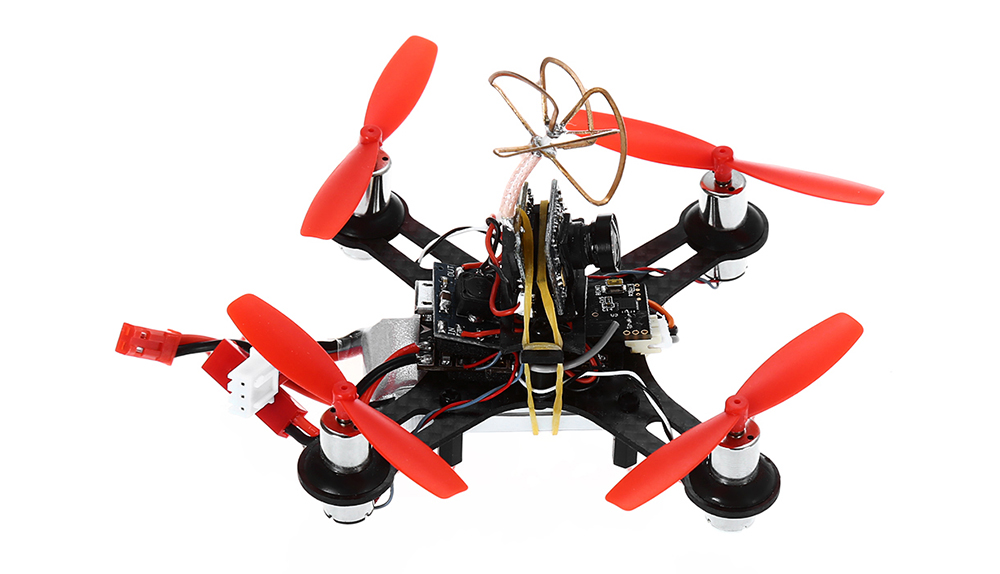 Tiny QX90 90mm Micro Racing Drone BNF Based on F3 FC / Transmitter with 520TVL Camera Combo