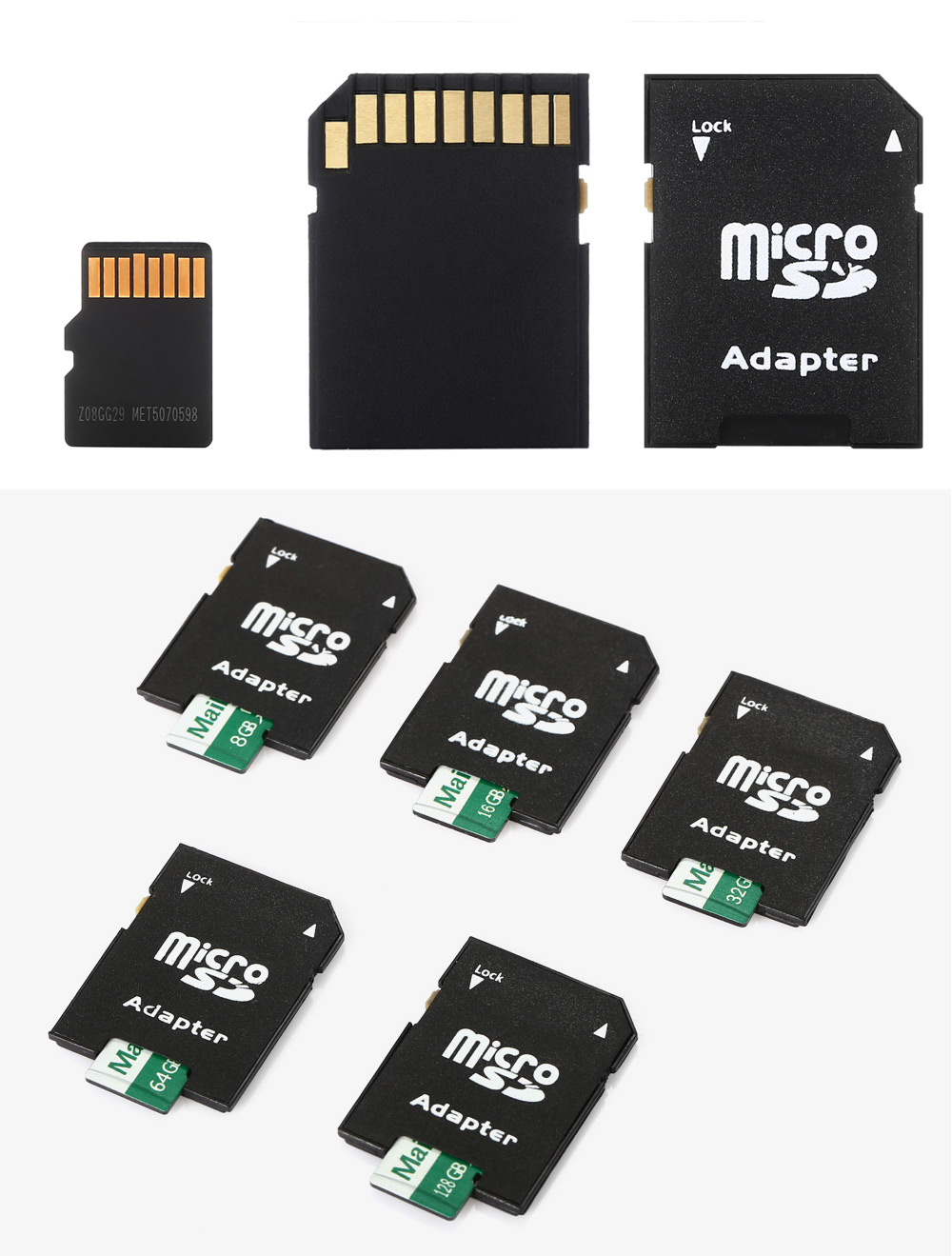 Maikou 2 in 1 8GB Micro SD Card + Adapter Data Storage Device
