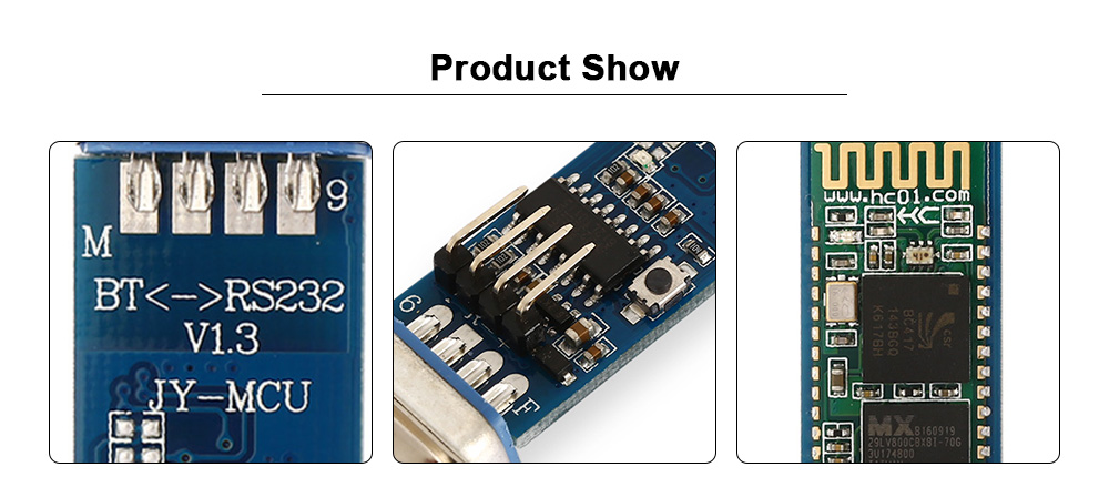 DB9 RS232 Bluetooth 2.0 Serial Module Wireless Data Transceiver for Arduino