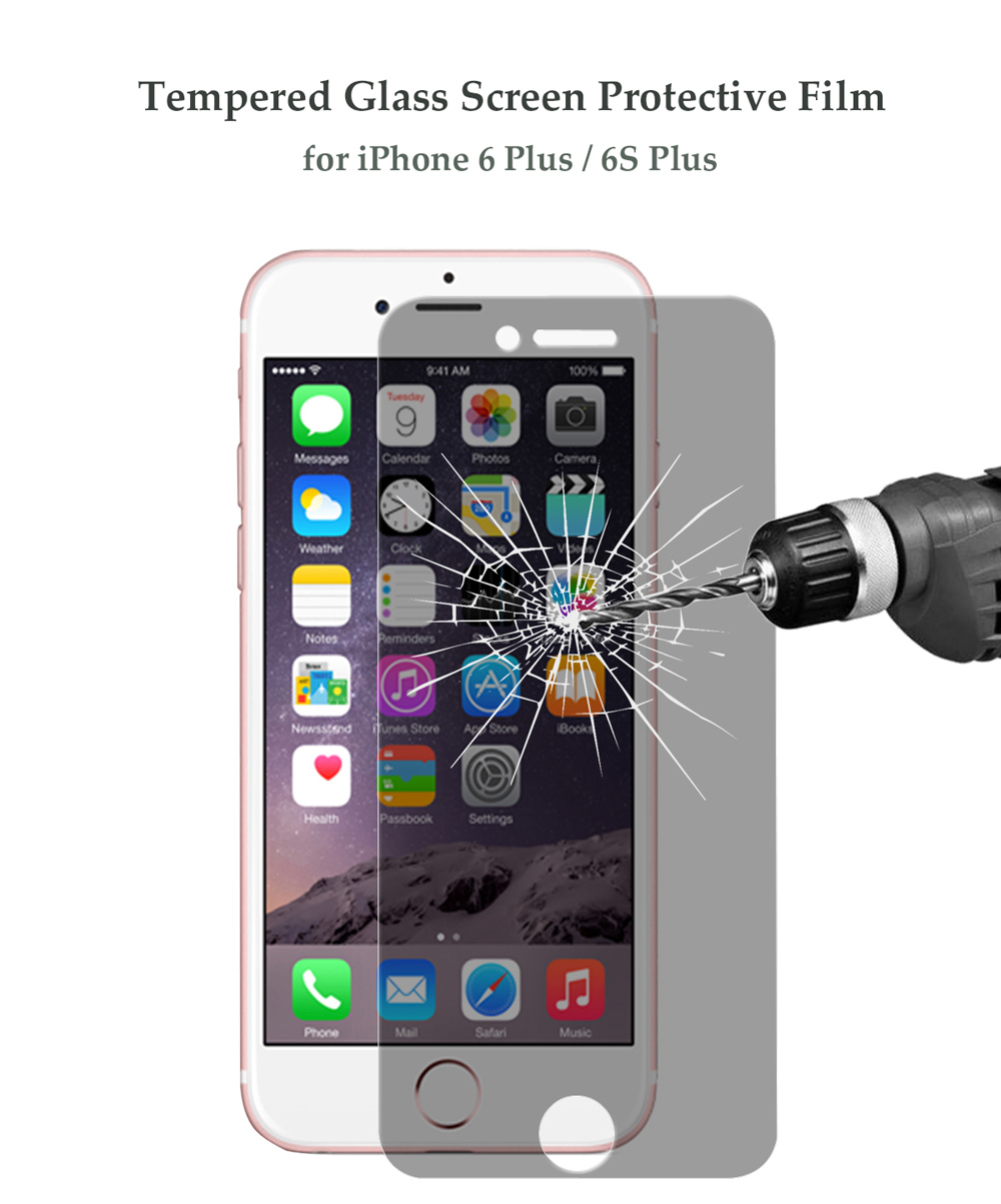Hat - Prince Tempered Glass Screen Protective Film for iPhone 6 Plus / 6S Plus 0.26mm 2.5D 9H Explosion-proof Anti-peep Protector