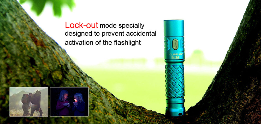 Klarus Mi7 Cree XPL HI V3 700Lm AA LED Flashlight Finger-size Torch