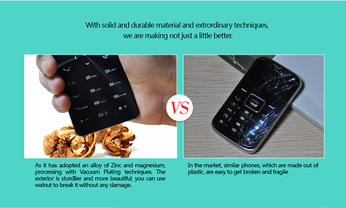 Janus One 1.68 inch Full Touch OLED Screen Card Phone Power Bank Function Magic Voice 1500mAh Battery Bluetooth FM