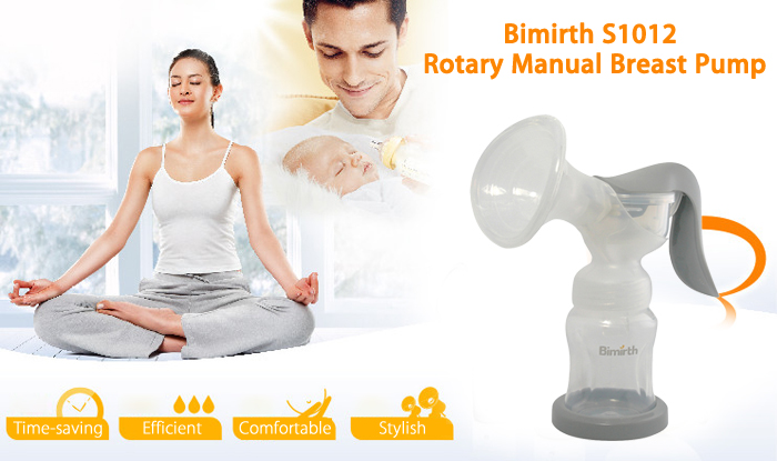 Bimirth S1012 Silicone Rotary Manual Breast Pump for Mother