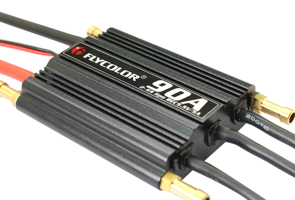 Flycolor FLY - S90A 2 - 6S Waterproof Brushless ESC with 5.5V 5A SBEC for RC Model Ships