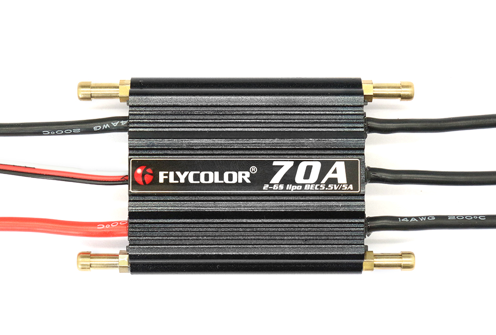 Flycolor FLY - S70A 2 - 6S Waterproof Brushless ESC with 5.5V 5A SBEC for RC Model Ships