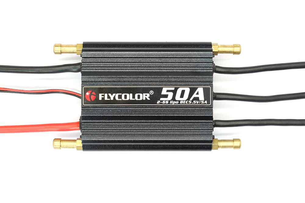 Flycolor FLY - S50A 2 - 6S Waterproof Brushless ESC with 5.5V 5A SBEC for RC Model Ships