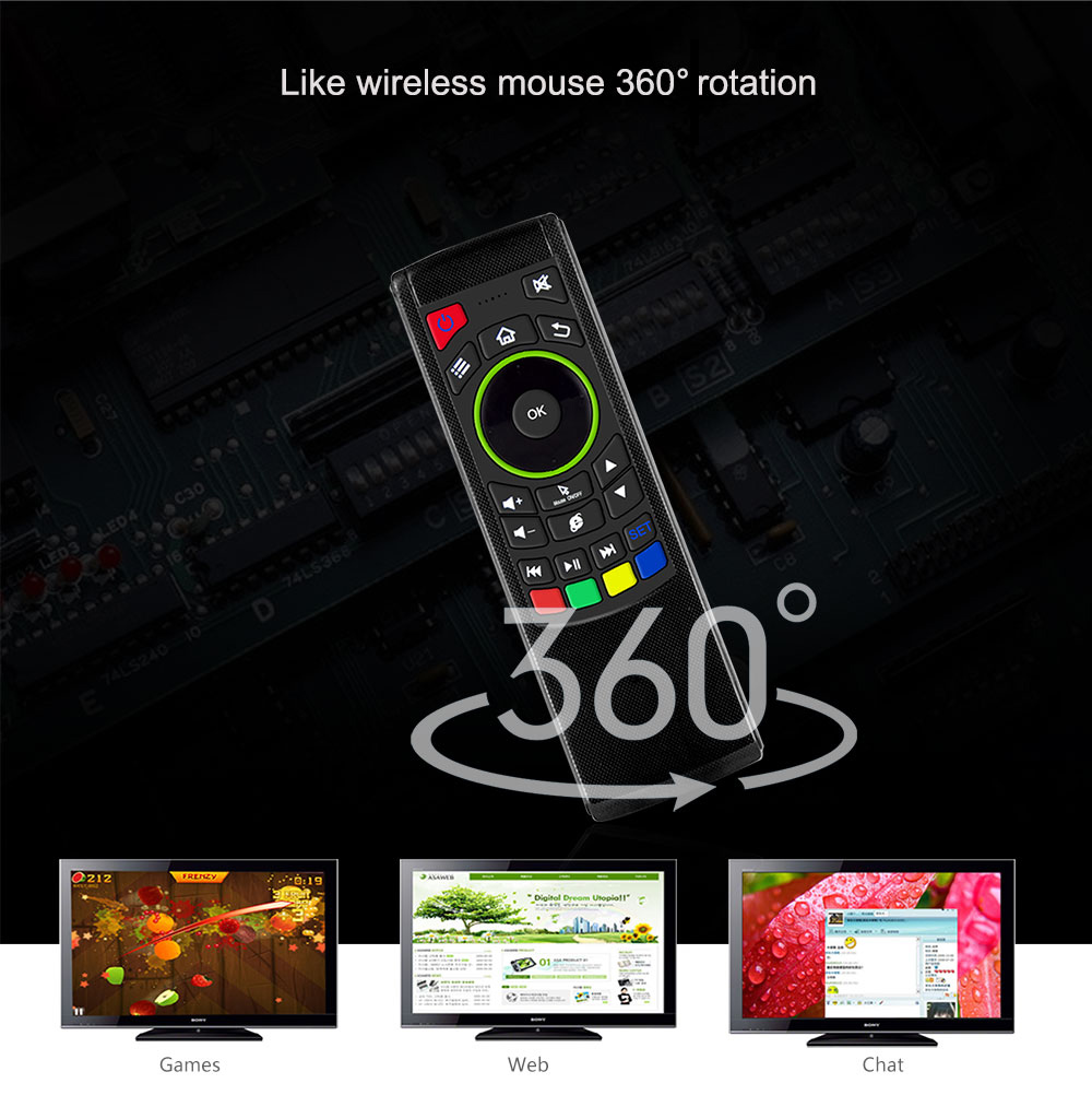 2 4G FlyMouse IR Learning Remote Mini Keyboard for Android TV BOX KODI USB