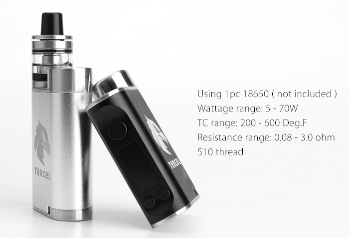 Original Kamry Tercel 70W TC Box Mod with 200 - 600F / 0.08 - 3.0 ohm / 5 - 70W for E Cigarette