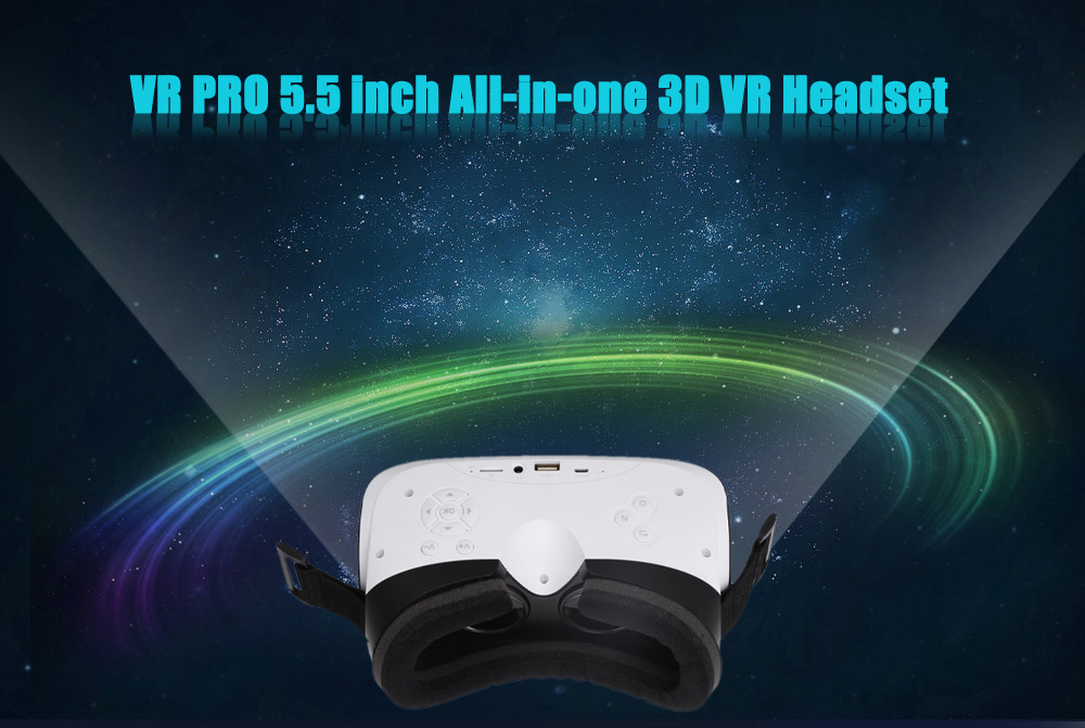 VR PRO 1080P FHD 5.5 inch All-in-one 3D VR Headset 60Hz FPS 110 Degree FOV