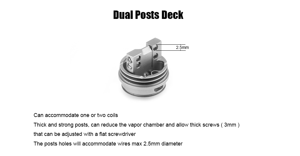 Ch RDA Atomizer with Airflow Control / Dual Air Channels / 22mm Diameter for E Cigarette
