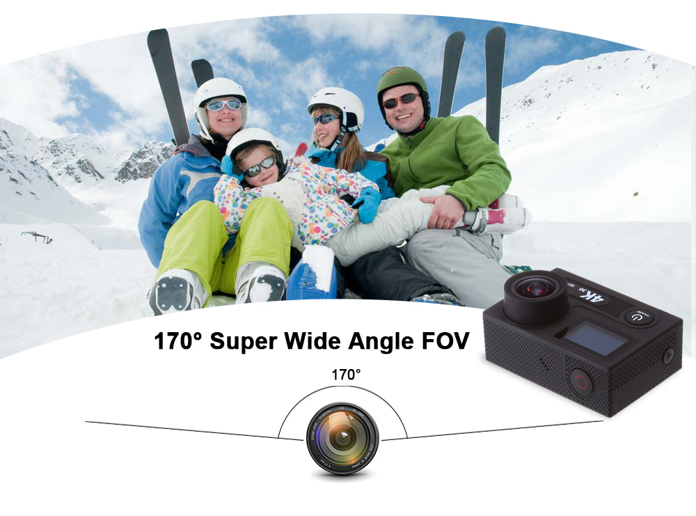 H8S 4K WiFi Action Camera Ambarella A12S75 Chipset with 2.4G Remote Controller
