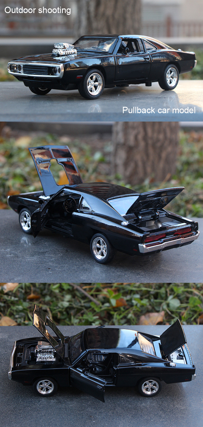 Alloy + Plastic Model Pullback Vehicle 1 / 32 Collection Toy with Music Light