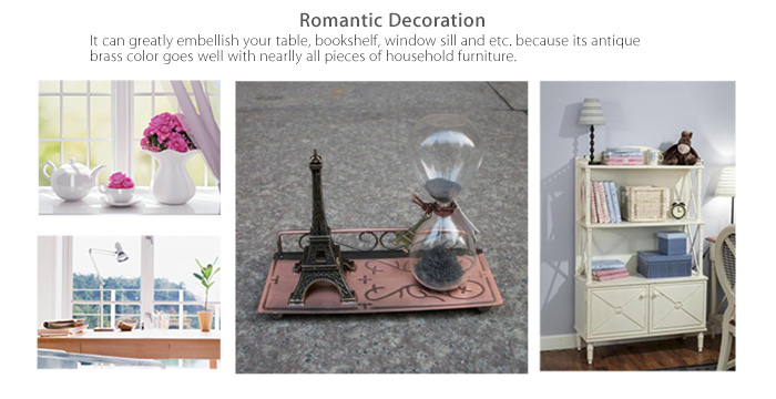 Magnetic Iron Sand Hourglass Eiffel Tower Desktop Set for Domestic Decoration