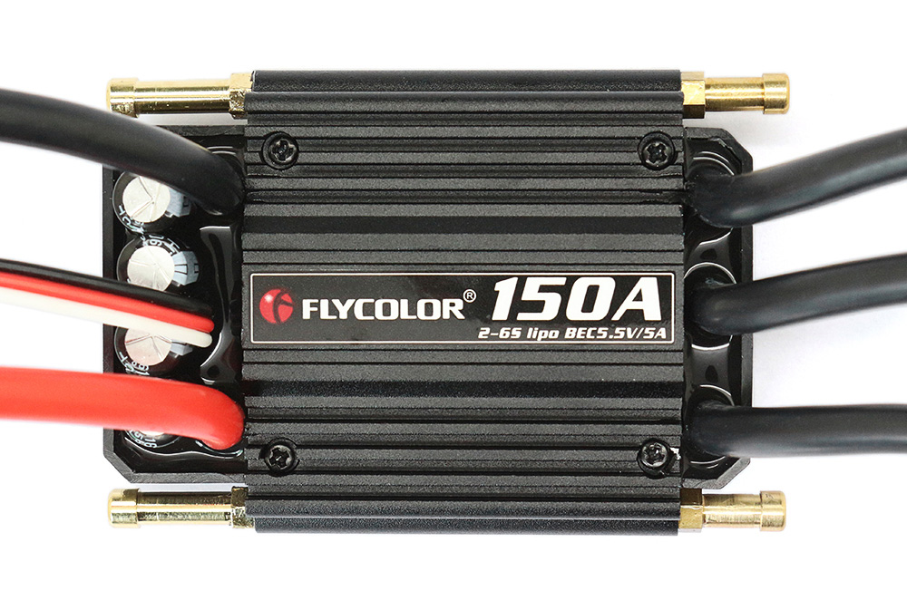 Flycolor FLY - S150A 2 - 6S Waterproof Brushless ESC with 5.5V 5A SBEC for RC Model Ships
