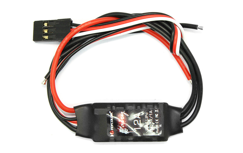 Flycolor Fairy Series 12A 2 - 4S BEC Brushless ESC for JJRC JJPRO - P130 RC Multirotor with Blocking Protection Function