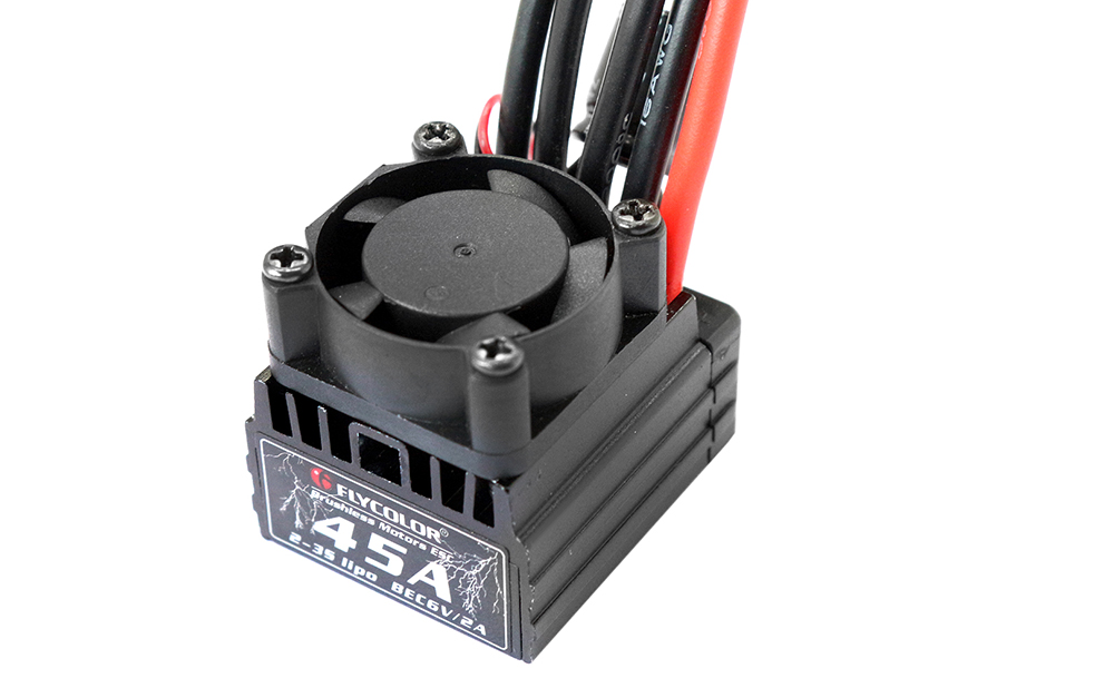 Flycolor 45A Brushless ESC 2 - 3S LiPo Accessory for 1 / 10 RC Car