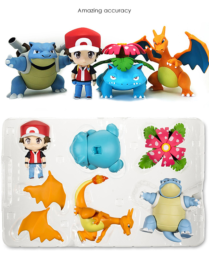 3.9 inch PVC Action Figure Animation Static Figurine Toy - 4pcs / set