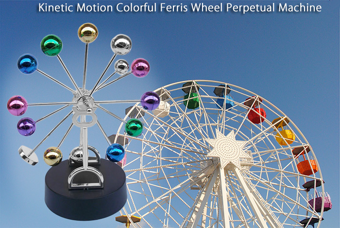 Kinetic Motion Magnetic Ferris Wheel Perpetual Machine Novelty for Decoration Birthday