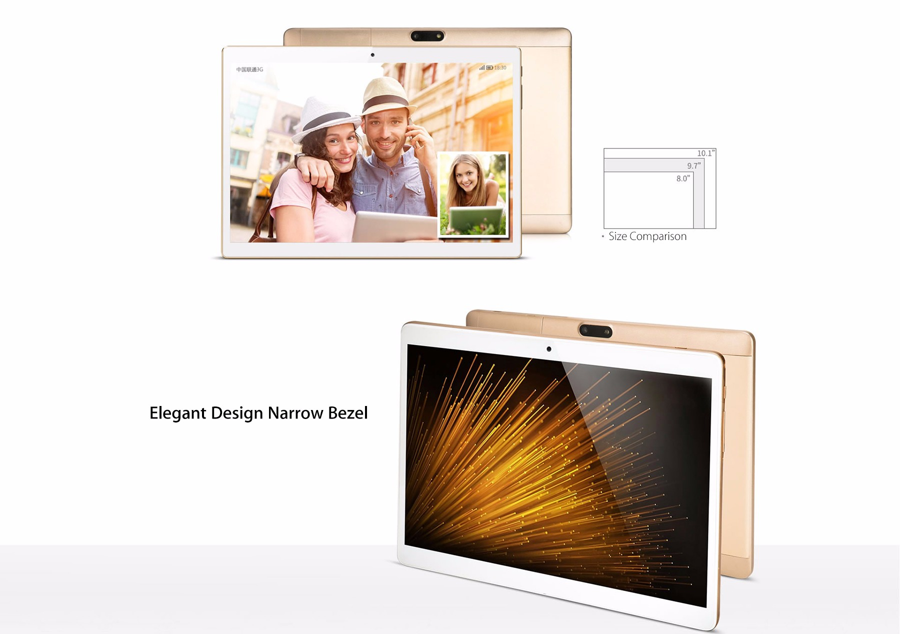 Onda V10 3G Phablet 10.1 inch IPS Screen Android 5.1 MTK8321 1.3GHz Quad Core 1GB RAM 16GB eMMC Dual Cameras GPS