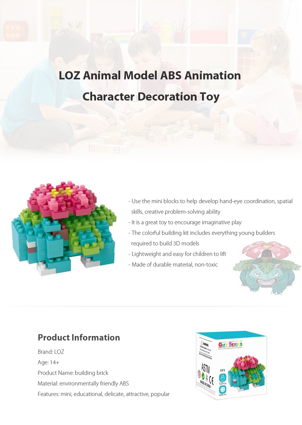 LOZ Cartoon Figure ABS Building Block Educational Movie Product Kid Toy