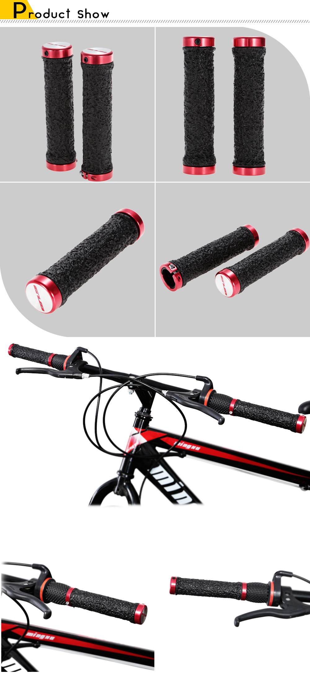 GUB 116 MTB Bike Grip Rubber Bicycle Handlebar Cover Cycling Accessories